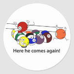 Here He Comes stickers
