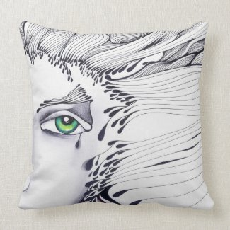 Here I am throwpillow