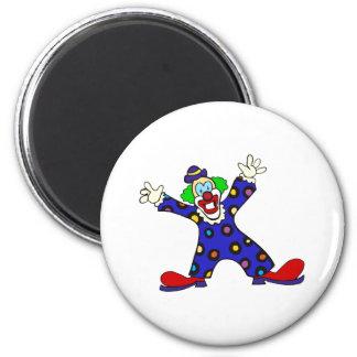 Here I Am Clown 2 Inch Round Magnet