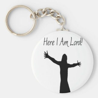 Here I Am Lord Basic Round Button Keychain