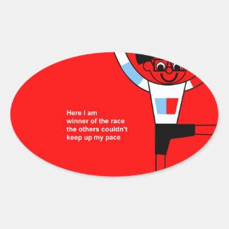 Here I am Oval Sticker