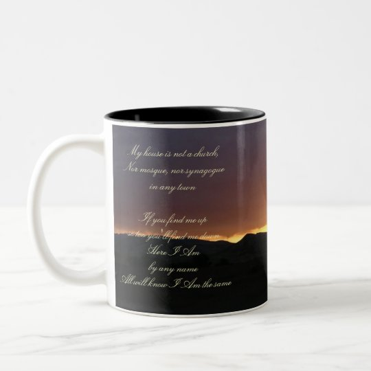 Here I AM Two-Tone Coffee Mug