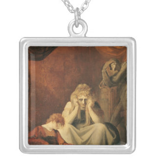 Here I and Sorrow Sit' Silver Plated Necklace