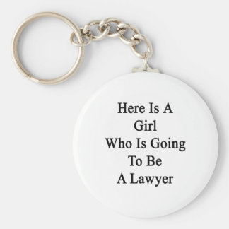 Here Is A Girl Who Is Going To Be A Lawyer Basic Round Button Keychain