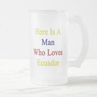 Here Is A Man Who Loves Ecuador Coffee Mug