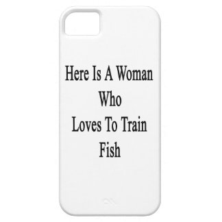 Here Is A Woman Who Loves To Train Fish Case For iPhone 5/5S