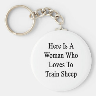 Here Is A Woman Who Loves To Train Sheep Keychains