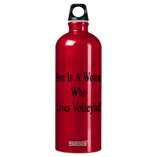 Here Is A Woman Who Loves Volleyball SIGG Traveler 1.0L Water Bottle