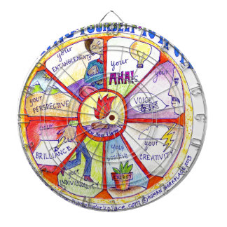 Here is our Bring Yourself to Work Wheel design Dart Boards