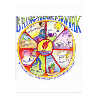 Here is our Bring Yourself to Work Wheel design Postcard