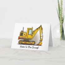 Here Is The Scoop Digger Shovel Note Card