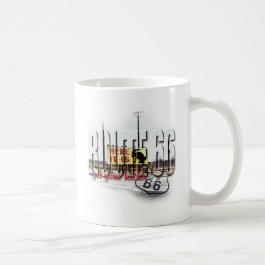 Here It Is - Rt 66 - Jack Rabbit Junction, AZ Coffee Mug