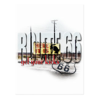 Here It Is - Rt 66 - Jack Rabbit Junction, AZ Post Card