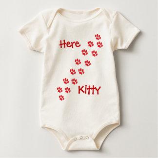 Here Kitty Cat Paws Baby Bodysuit
