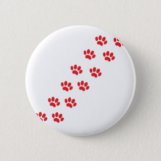 Here Kitty Cat Paws Pinback Button