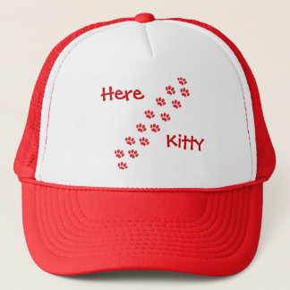 Here Kitty Cat Paws Trucker Hat