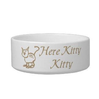 Here Kitty Kitty Cat Dish