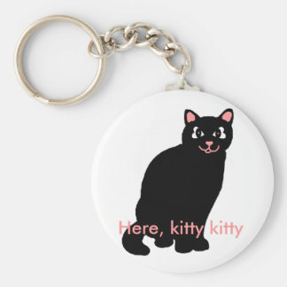 Here, kitty kitty key chain