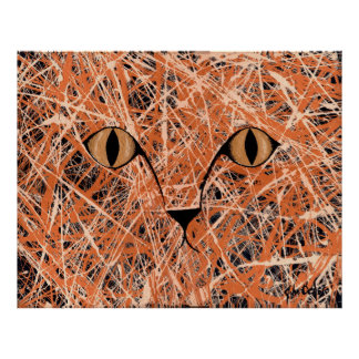 HERE, KITTY, KITTY, KITTY.... (cat art) (large) ~ Poster