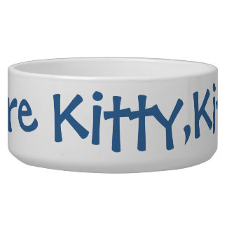 Here Kitty.Kitty Pet Water Bowl