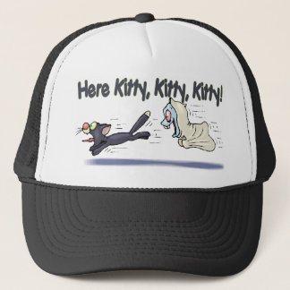 Here Kitty, kitty Trucker Hat