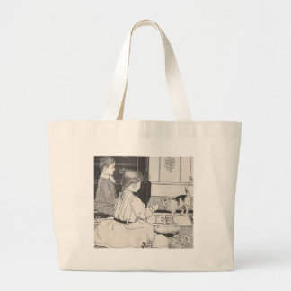 Here Kitty Large Tote Bag