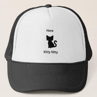 Here kitty trucker hat