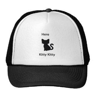 Here kitty trucker hat