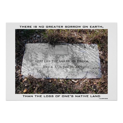 Here Lies the American Dream Poster