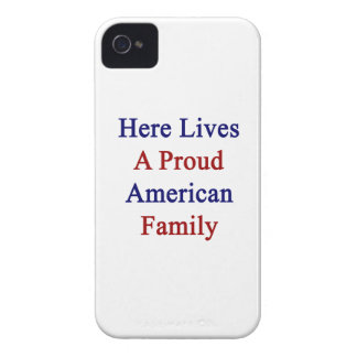 Here Lives A Proud American Family Blackberry Bold Cases