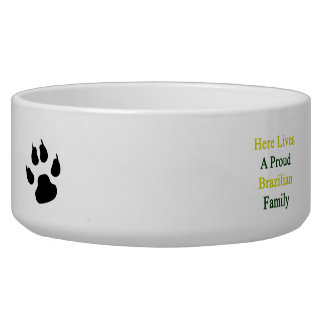 Here Lives A Proud Brazilian Family Dog Bowls