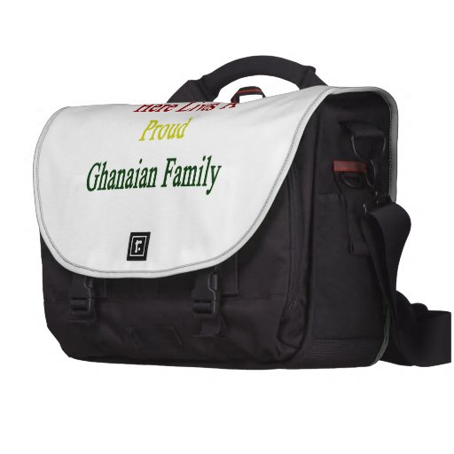 Here Lives A Proud Ghanaian Family Laptop Bags