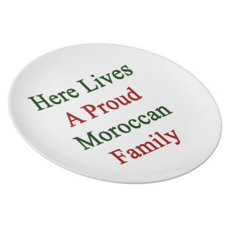 Here Lives A Proud Moroccan Family Dinner Plates