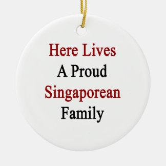 Here Lives A Proud Singaporean Family Christmas Ornament