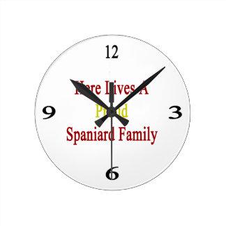 Here Lives A Proud Spaniard Family Wall Clocks