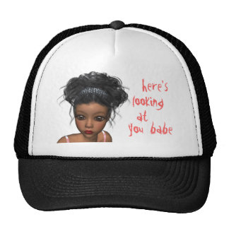 here,looking at you, babe trucker hat