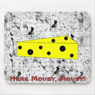 Here Mousy, Mousy! (inkspots) Mouse Mats