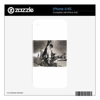 Here neither by Francisco Goya Skins For iPhone 4