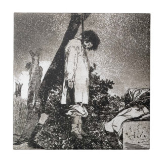 Here neither by Francisco Goya Tile