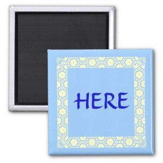 Here Stateroom Door Marker 2 Inch Square Magnet