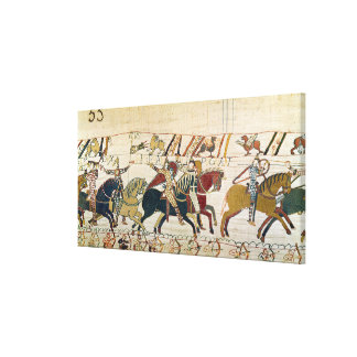 Here the French are fighting Canvas Print