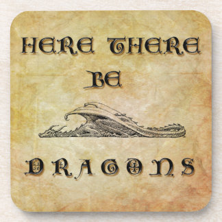 Here There Be Dragons Coaster