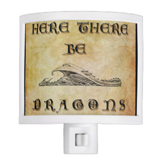 Here There Be Dragons Night Light