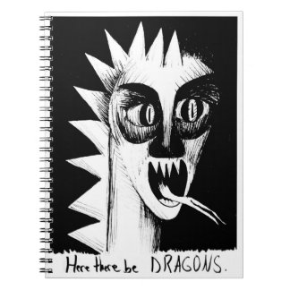 Here There Be Dragons Notebook