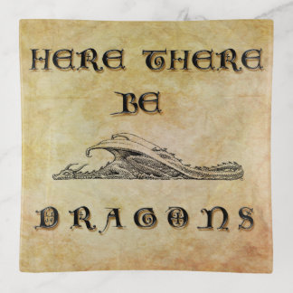 Here There Be Dragons Trinket Trays
