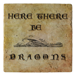 Here There Be Dragons Trivet