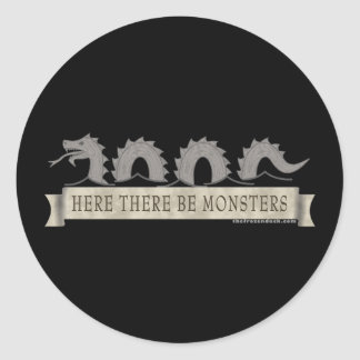 Here There Be Monsters Stickers