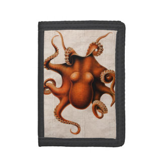 Here There Be Monsters Tri-fold Wallet