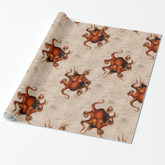 Here There Be Monsters Wrapping Paper