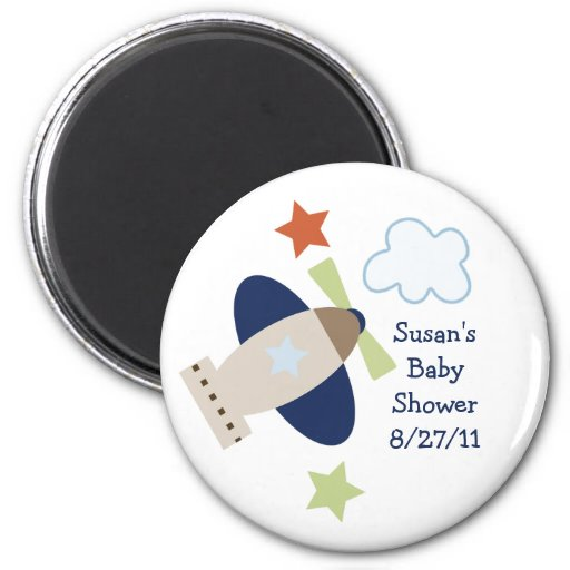 Here, There, Everywhere Boy Baby Shower Magnet